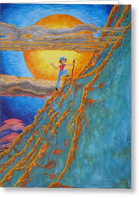 Greeting Card featuring the painting Sunrise by Matt Konar