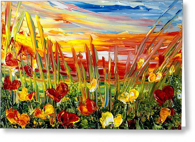 Sunrise Meadow   Greeting Card by Teresa Wegrzyn