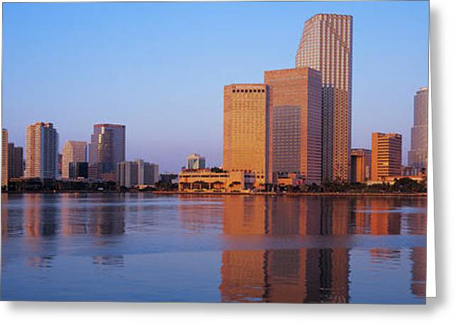 Sunrise, Miami, Florida, Usa Greeting Card by Panoramic Images