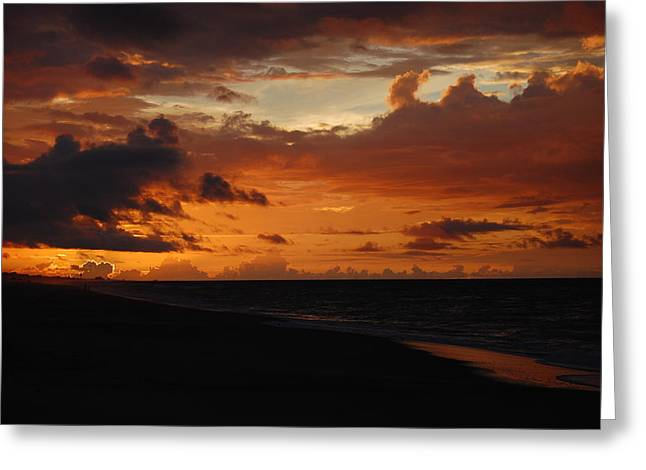 Greeting Card featuring the photograph Sunrise  by Mim White