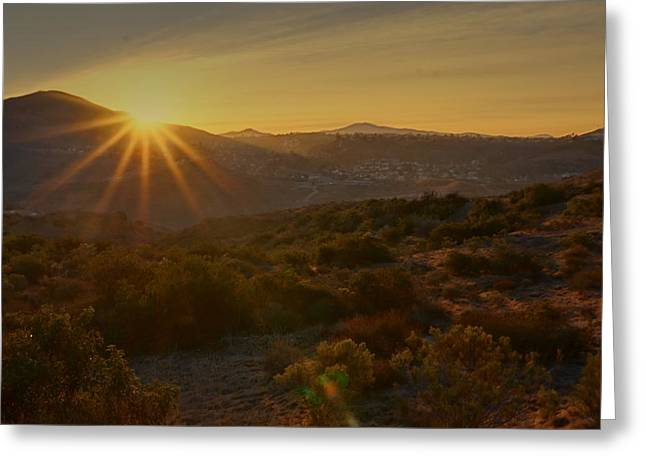 Greeting Card featuring the photograph Sunrise Mission Trails San Diego  by Jeremy McKay