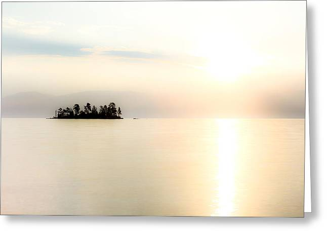Sunrise Mist Greeting Card by Aaron Aldrich