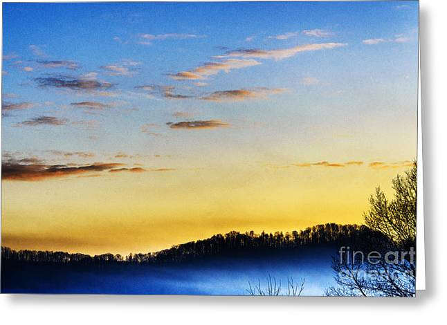 Sunrise Mist In Valley Greeting Card by Thomas R Fletcher