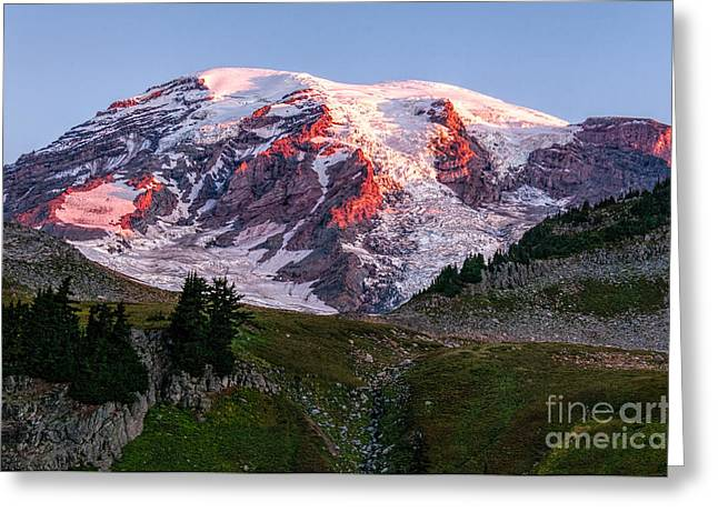 Sunrise Mt Rainier Greeting Card