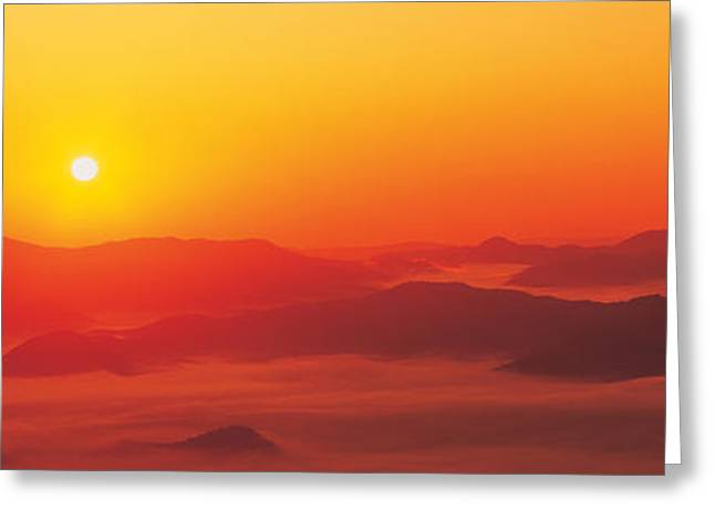 Sunrise Mt Taisetsu National Park Greeting Card by Panoramic Images