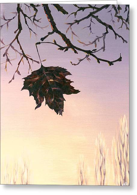 Greeting Card featuring the painting Sunrise by Natasha Denger