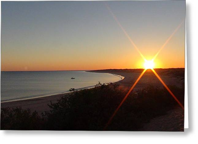 Sunrise Near Broome  Australia Greeting Card
