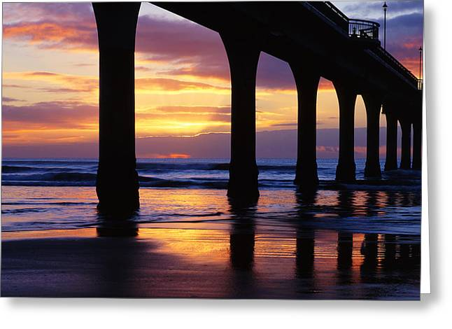 Sunrise New Brighton Pier Nz Greeting Card