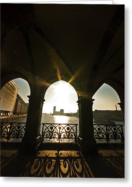 Sunrise Oberbaumbrucke Greeting Card by Nathan Wright