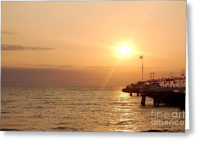 Sunrise Ocean Greeting Card by Michal Bednarek