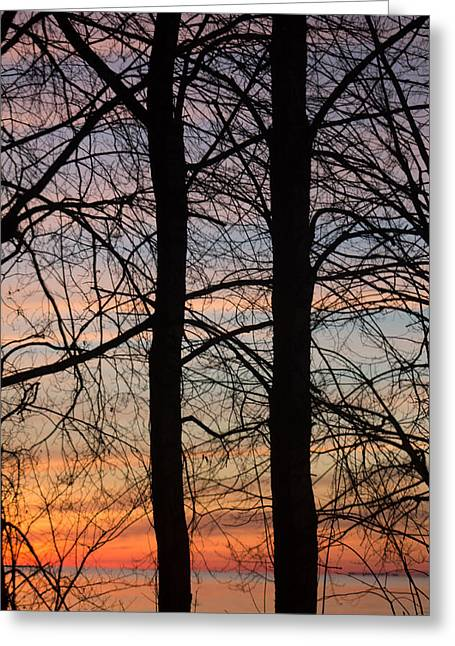 Sunrise Of Lake Huron Greeting Card by Rhonda Humphreys