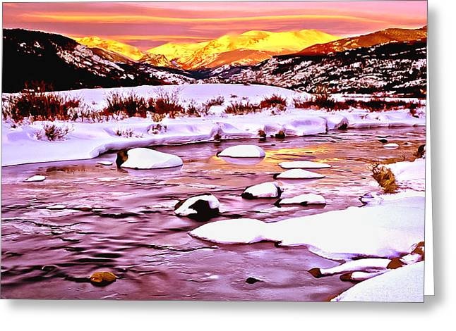 Sunrise On A Cold Day Greeting Card by Bob and Nadine Johnston