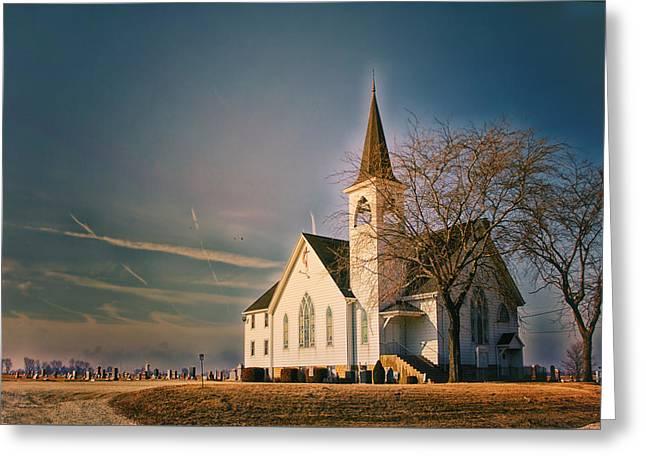 Sunrise On A Rural Church Extreme Greeting Card