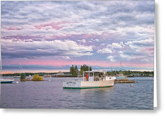 Sunrise On Boothbay Harbor Greeting Card