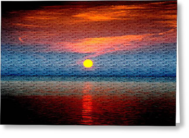 Sunrise On Brushed Metal Greeting Card