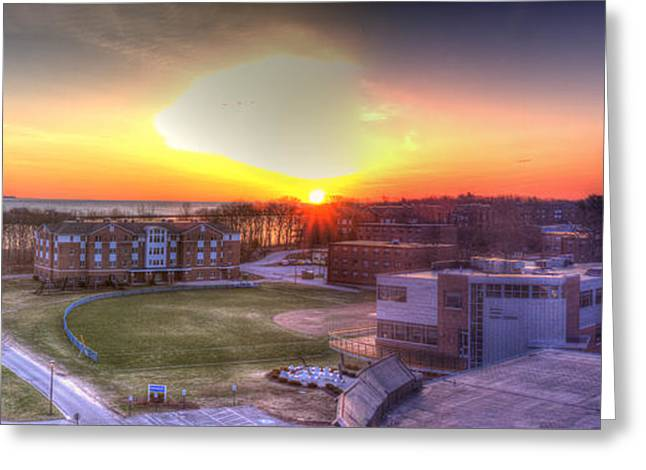 Sunrise On Campus Greeting Card