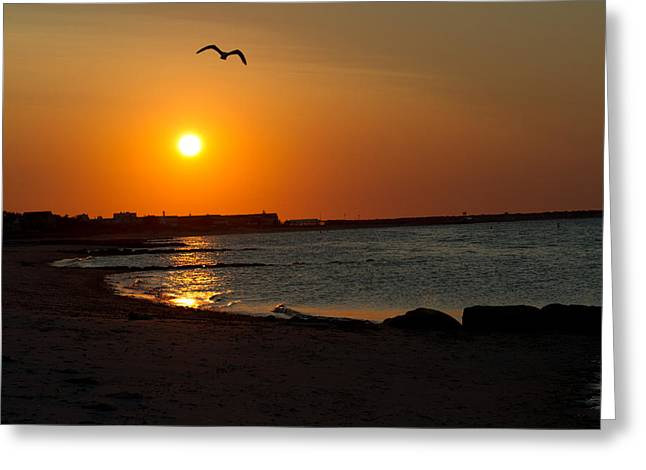 Greeting Card featuring the photograph Sunrise On Cape Cod by John Hoey