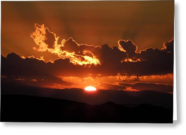Sunrise On Fire Greeting Card