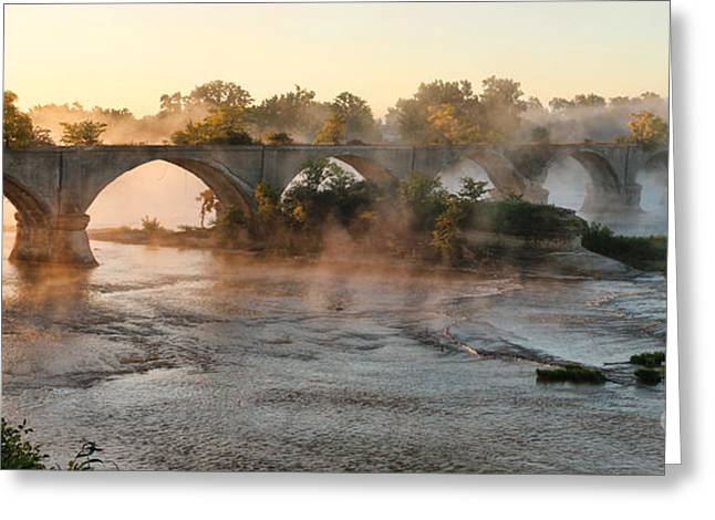 Sunrise On Interurban Bridge 0369 Greeting Card
