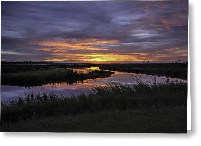 Sunrise On Lake Shelby Greeting Card
