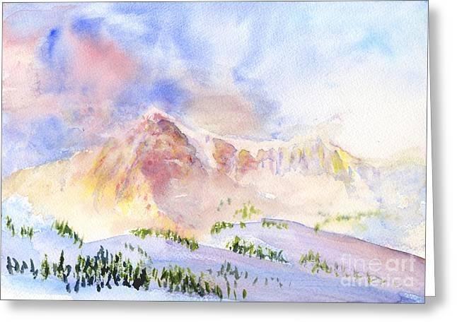 Sunrise On Mount Ogden Greeting Card