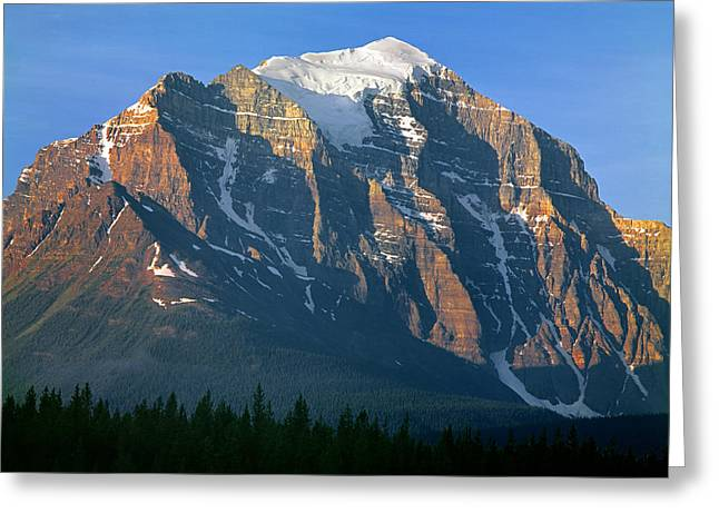 1m3518-sunrise On Mt. Temple Greeting Card