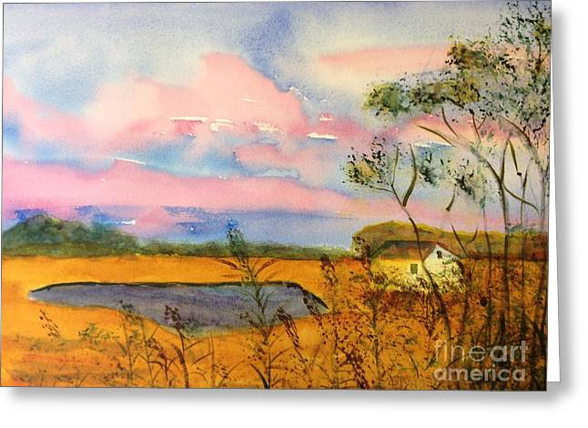 Sunrise On Patcong Creek Greeting Card