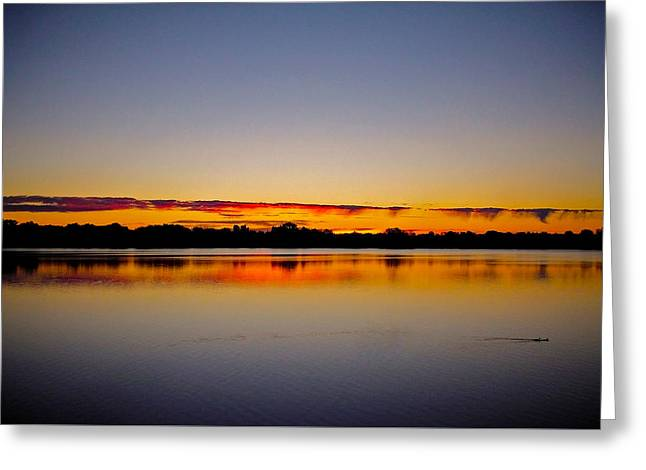 Sunrise On Riviere Des Mille-iles Greeting Card by Juergen Weiss