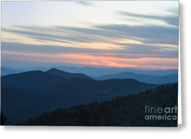 Sunrise On The Blue Ridge Greeting Card