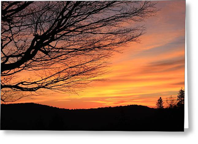 Sunrise On The Blue Ridge Parkway Greeting Card by Mountains to the Sea Photo