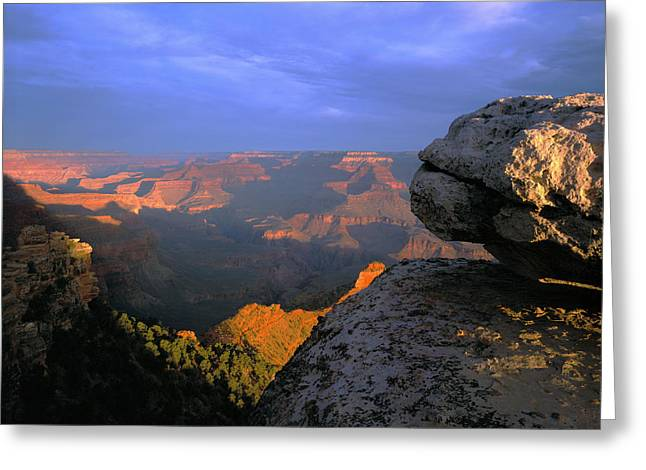 Sunrise On The Grand Canyon From Yaki Greeting Card