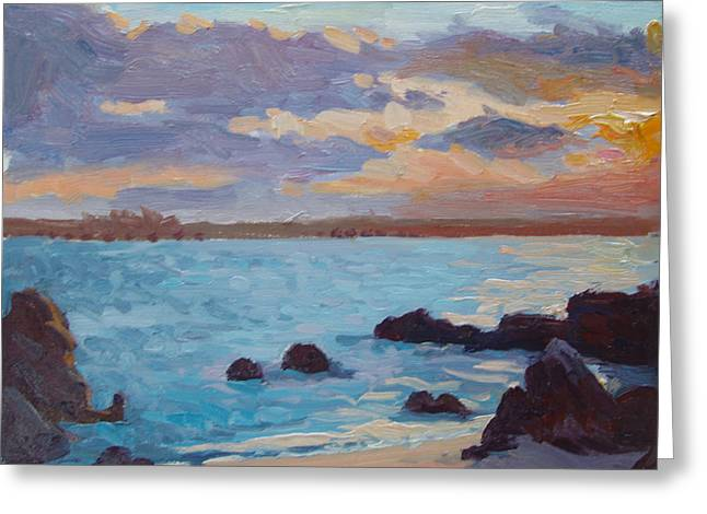 Sunrise On The Grotto Greeting Card by Dianne Panarelli Miller