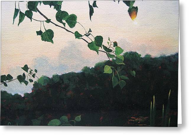 Sunrise On The Lake Greeting Card by Carlynne Hershberger
