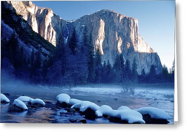 Sunrise On El Capitan Yosemite National Park Greeting Card