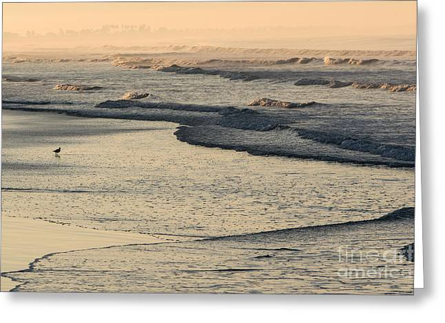 Greeting Card featuring the photograph Sunrise On The Ocean by John Wadleigh