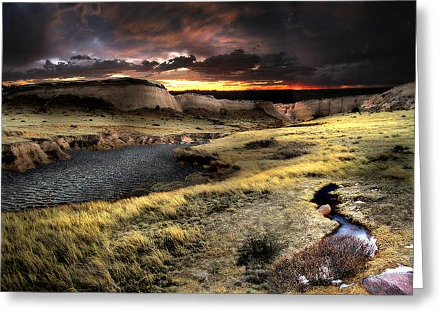 Sunrise On The Pawnee Grasslands Greeting Card by Ric Soulen