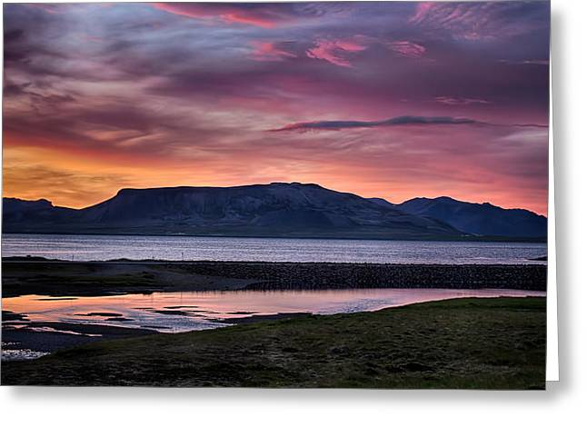 Sunrise On The Snaefellsnes Peninsula In Iceland Greeting Card