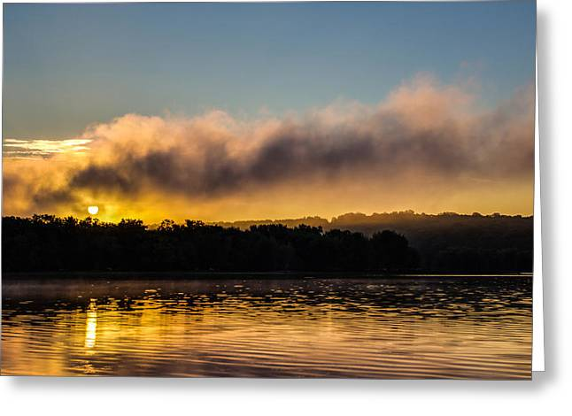 Greeting Card featuring the photograph Sunrise On The St. Croix by Adam Mateo Fierro