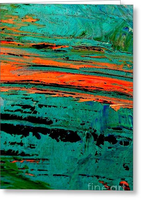 Greeting Card featuring the painting Sunrise On The Water by Jacqueline McReynolds