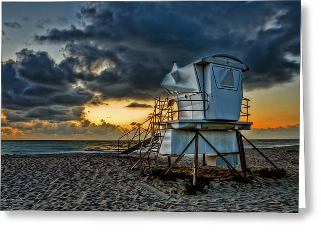 Sunrise On Vero Beach Hdr 1 Greeting Card