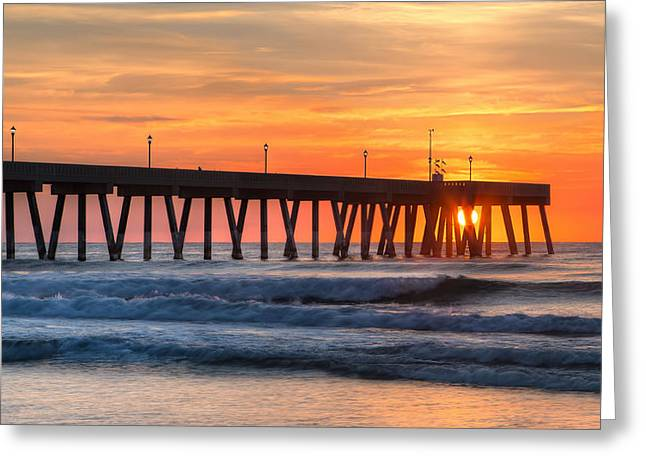 Sunrise On Wrightsville Beach Nc Greeting Card