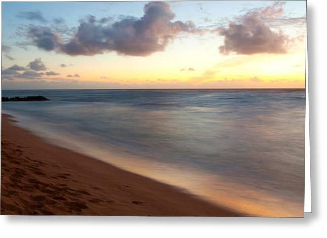 Sunrise Over An Ocean, Waipouli Beach Greeting Card