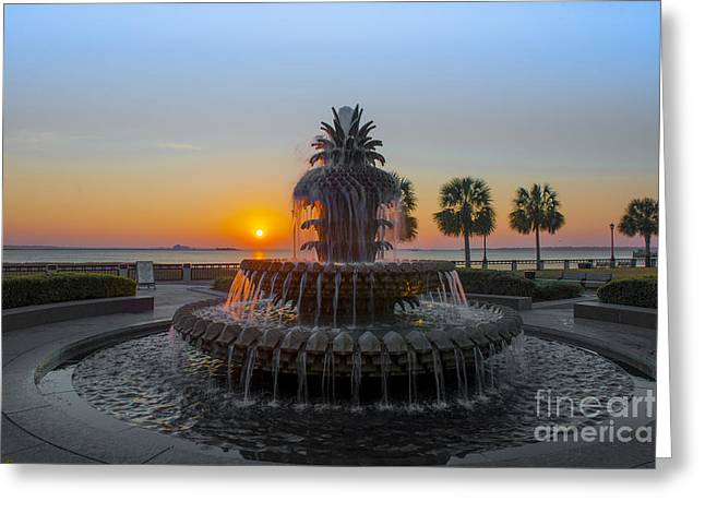 Sunrise Over Charleston Greeting Card