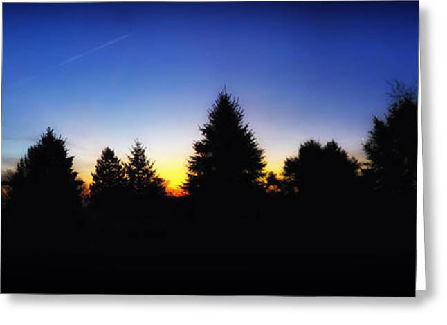 Sunrise Over East Lawn Panorama Greeting Card by Thomas Woolworth