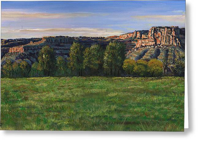 Sunrise Over Farmington Bluffs Greeting Card by Timithy L Gordon