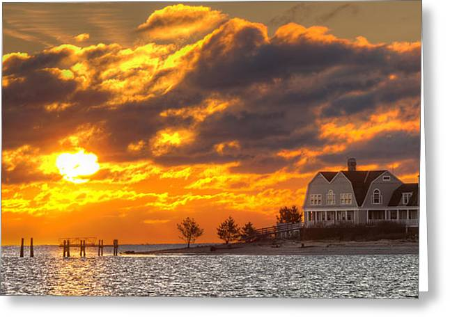 Sunrise Over Fenwick Greeting Card by Jonathan Steele