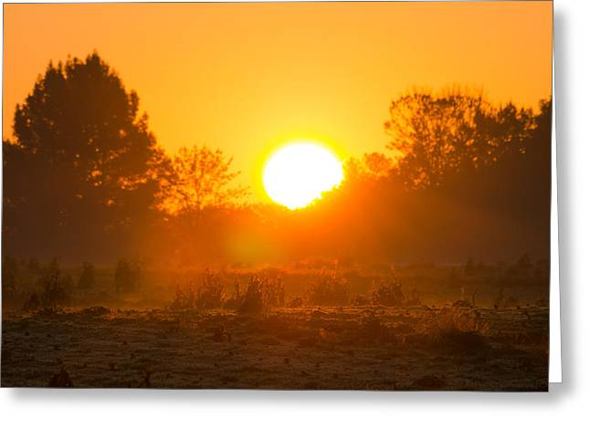 Sunrise Over Field Greeting Card