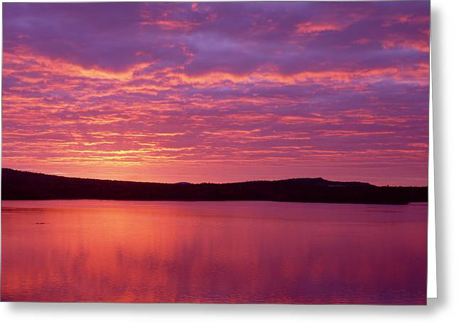 Sunrise Over Grand Lake Matagamon Greeting Card by Panoramic Images