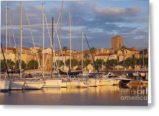 Sunrise Over La Ciotat France Greeting Card by Brian Jannsen