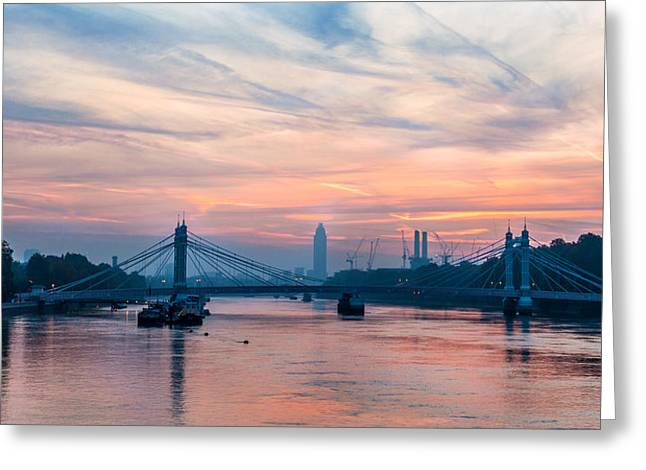 Sunrise Over London Greeting Card
